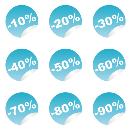 set of 9 sale stickers Stock Vector - 7571174