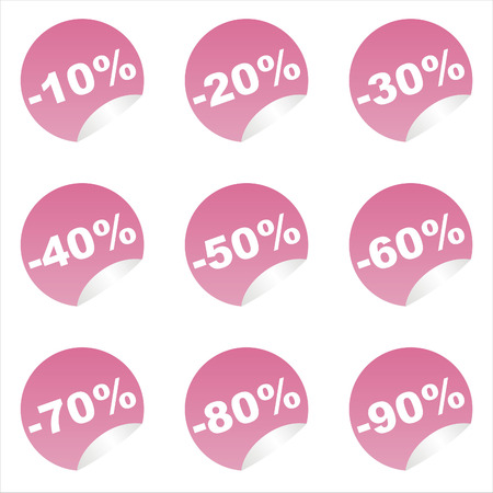 set of 9 sale stickers Stock Vector - 7571171