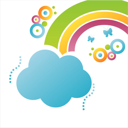 rainbow clouds: colorful cloud background with rainbow