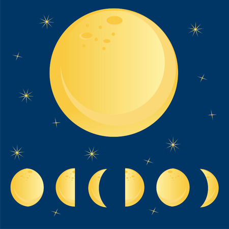 moon phases: moon phases over sky