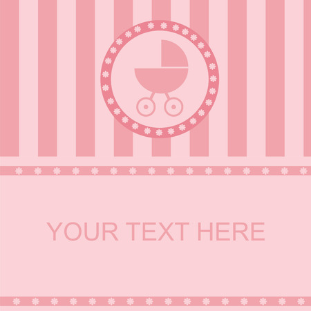 cute baby arrival background Illustration