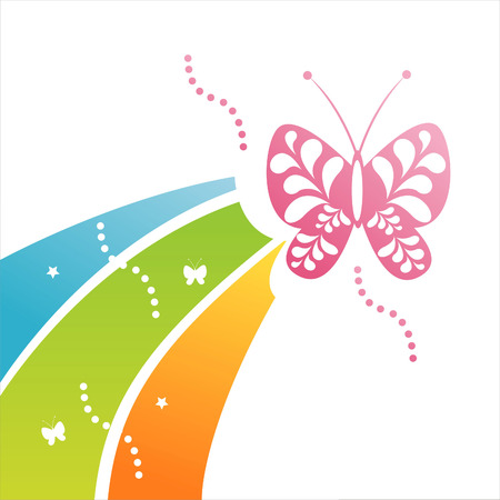 butterfly background Stock Vector - 7639299
