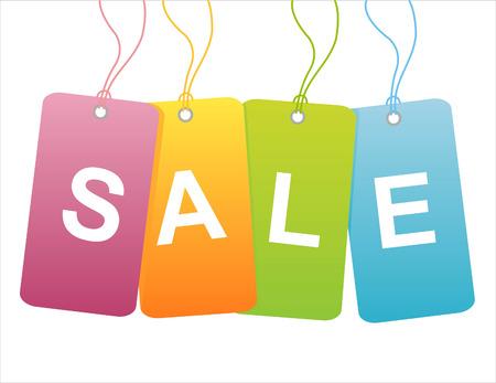 sale tags: set of 4 sale tags