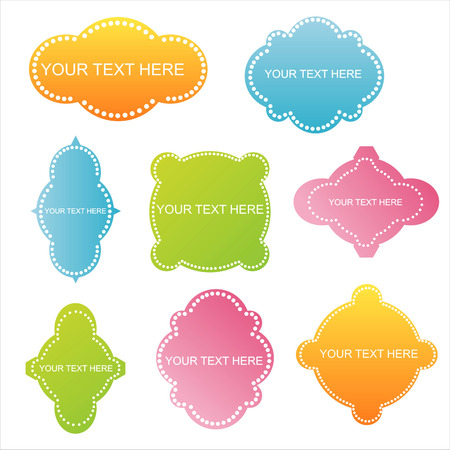 set of 8 colorful design frames