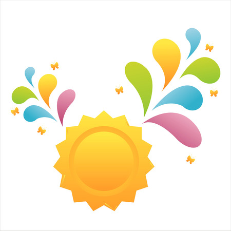 sun with colorful splash Stock Vector - 7661545
