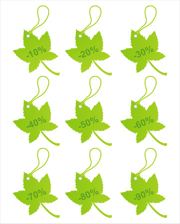 set of 9 autumn sale tags Vector
