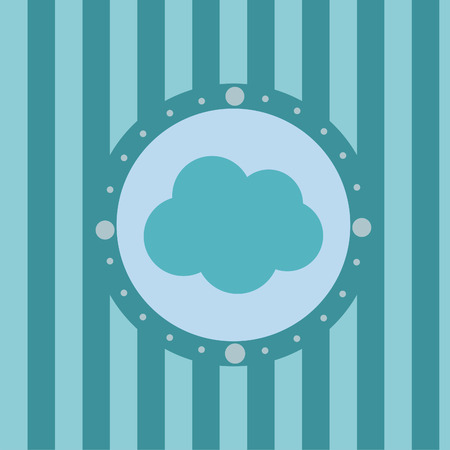cute cloud background Stock Vector - 7715886