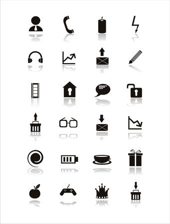 lock up: set of 21 web black signs Illustration