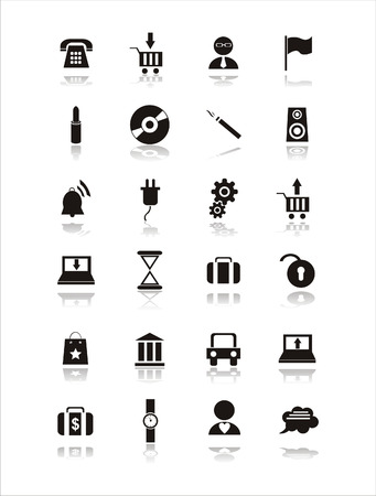 outlets: conjunto de signos de web negro 21