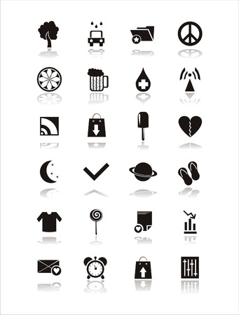 set of 21 web black signs Stock Vector - 7726089