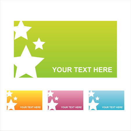 set of 4 colorful stars frames Vector
