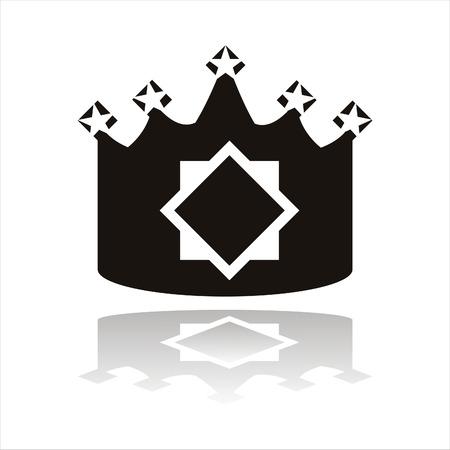 crown silhouette: Corona silhouette Vettoriali