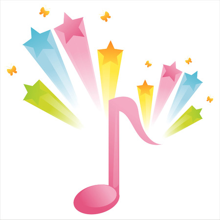musical note with star splash Stock Vector - 7763152