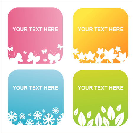 set of 4 seasonal backgrounds Stock Vector - 7801154