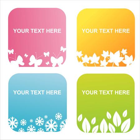 set of 4 seasonal backgrounds Stock Vector - 7801154