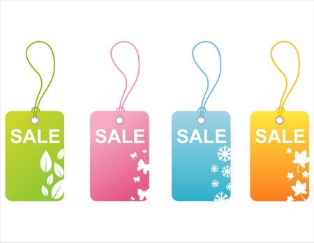 set of 4 seasonal tags Stock Vector - 7825979