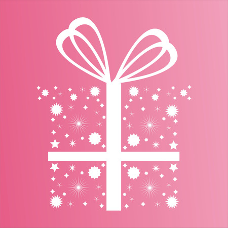 christmas cute: cute abstract present