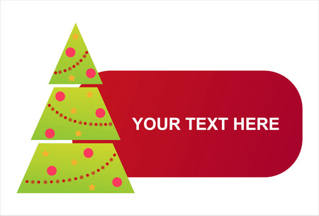 christmas tree banner Vector
