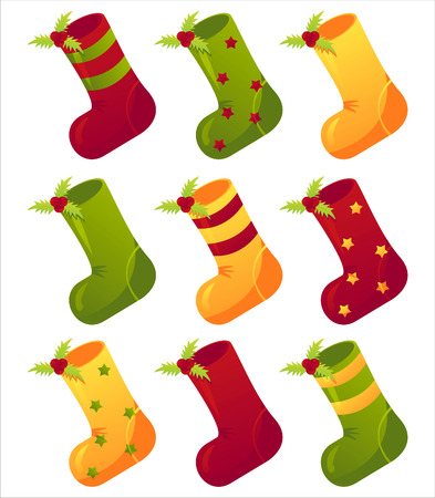 christmas sock: set of 9 christmas socks