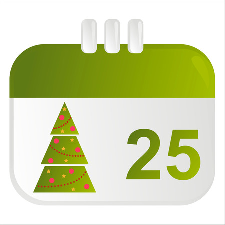 christmas calendar icon Illustration