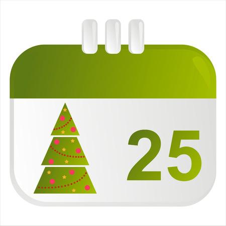 christmas calendar icon Stock Vector - 8189091