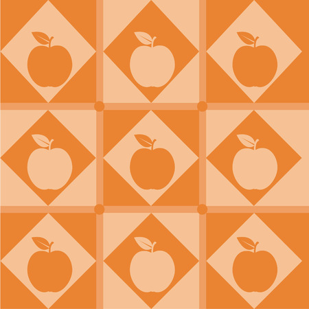 cute apple pattern Vector