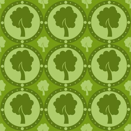 cute tree: cute tree pattern Illustration