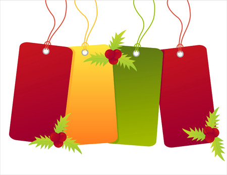 christmas shopping sale tags Illustration