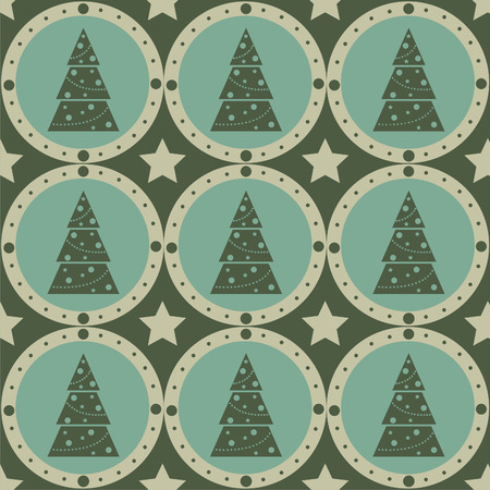 cute christmas: cute christmas tree pattern Illustration