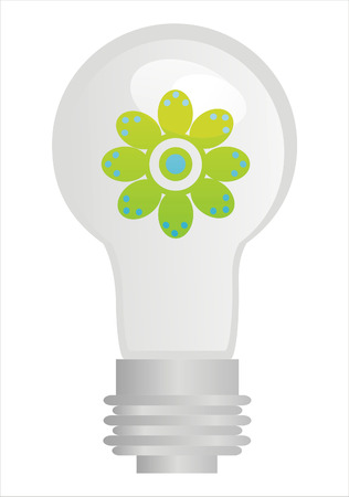 flower lamp: l�mpara de eco con flor dentro