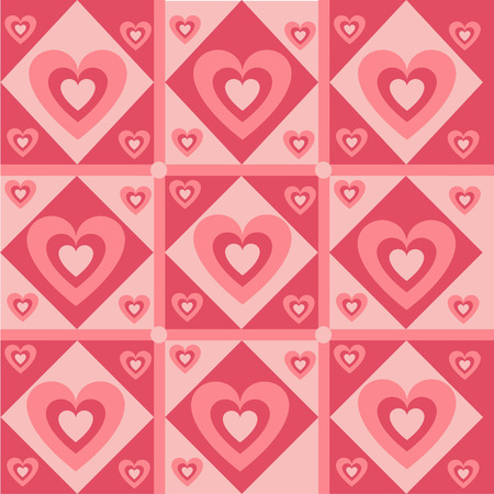 cute hearts pattern Vector