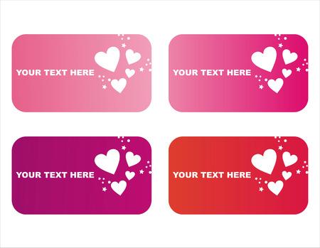 st valentines day: set of 4 st. valentines day frames