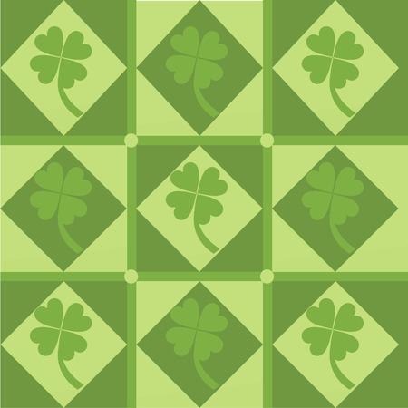 cute clover pattern Stock Vector - 8563324
