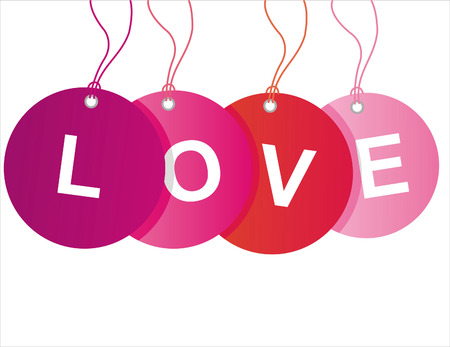 st. valentines day sale tags Vector