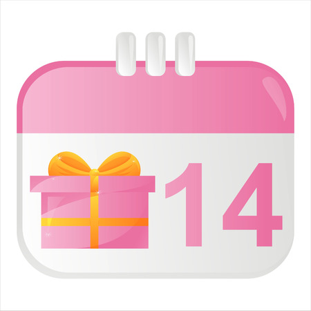 st valentines day: st. valentines day calendar icon