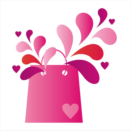 st. valentines day shopping bag Vector