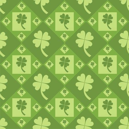 cute clover pattern Stock Vector - 8632357