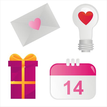 st valentines day: set of 4 st. valentines day icons