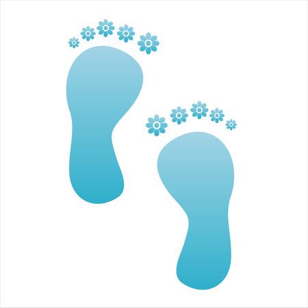 foot step: Passo di piedi floreale