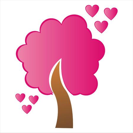 st valentines day: st. valentines day tree Illustration
