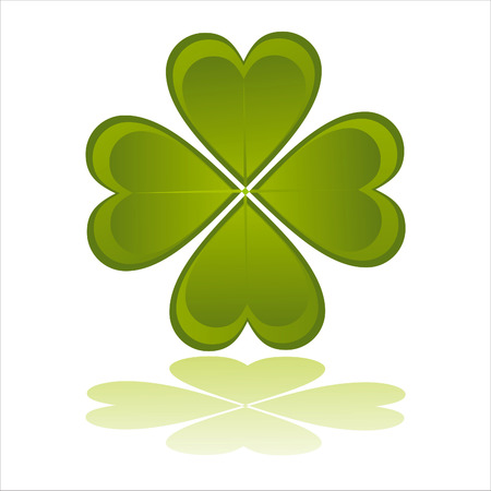glossy clover isolated on white Vector