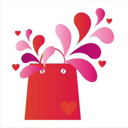 february 14th: st. valentines day shopping bag
