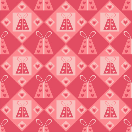 cute st. valentines day presents pattern Vector