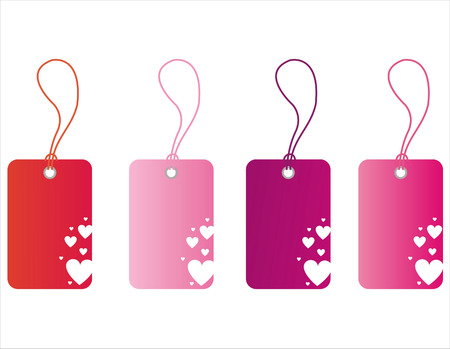 st valentines day: set of 4 st. valentines day tags