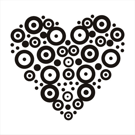 abstract heart isolated on white Vector