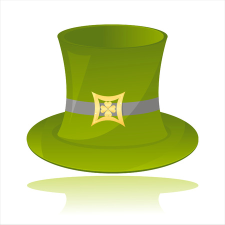 st. patrick's day hat isolated on white Stock Vector - 8755879