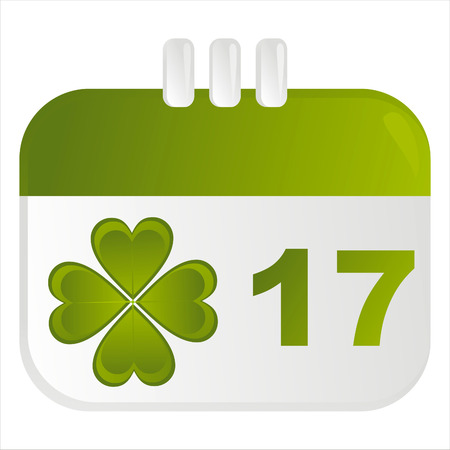 st. patrick's day calendar icon Stock Vector - 8755909