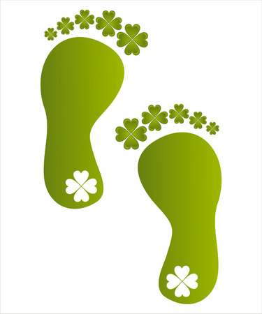 st. patrick's day foot steps Stock Vector - 8755900