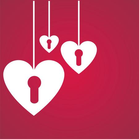 st. valentines day background Illustration