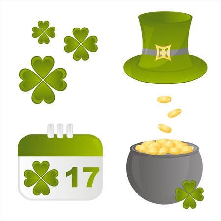 set of 4 st. patrick's day icons Stock Vector - 8755940